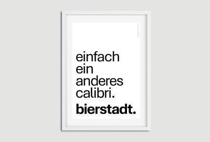 """A3-Poster """"einfach ein anderes calibri. bierstadt."""""""