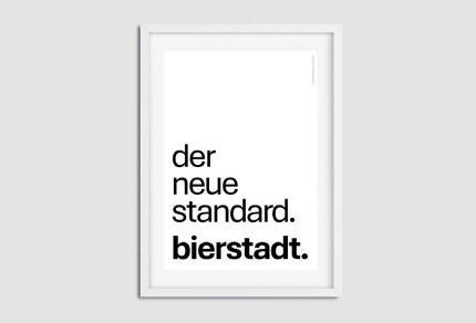 """A3-Poster """"der neue standard. bierstadt."""""""