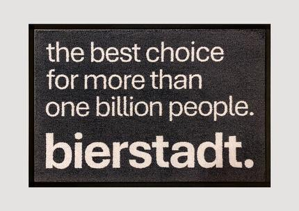 """Fußmatte bierstadt """"The best choice for more than one million people"""""""