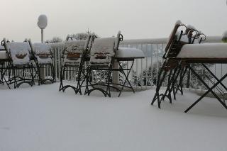 Winter auf der Terrasse