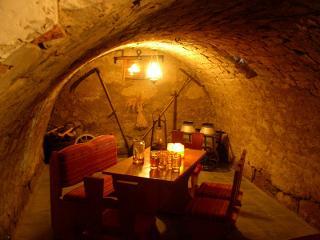 Das Kellergewölbe für die kleine Familienfeier