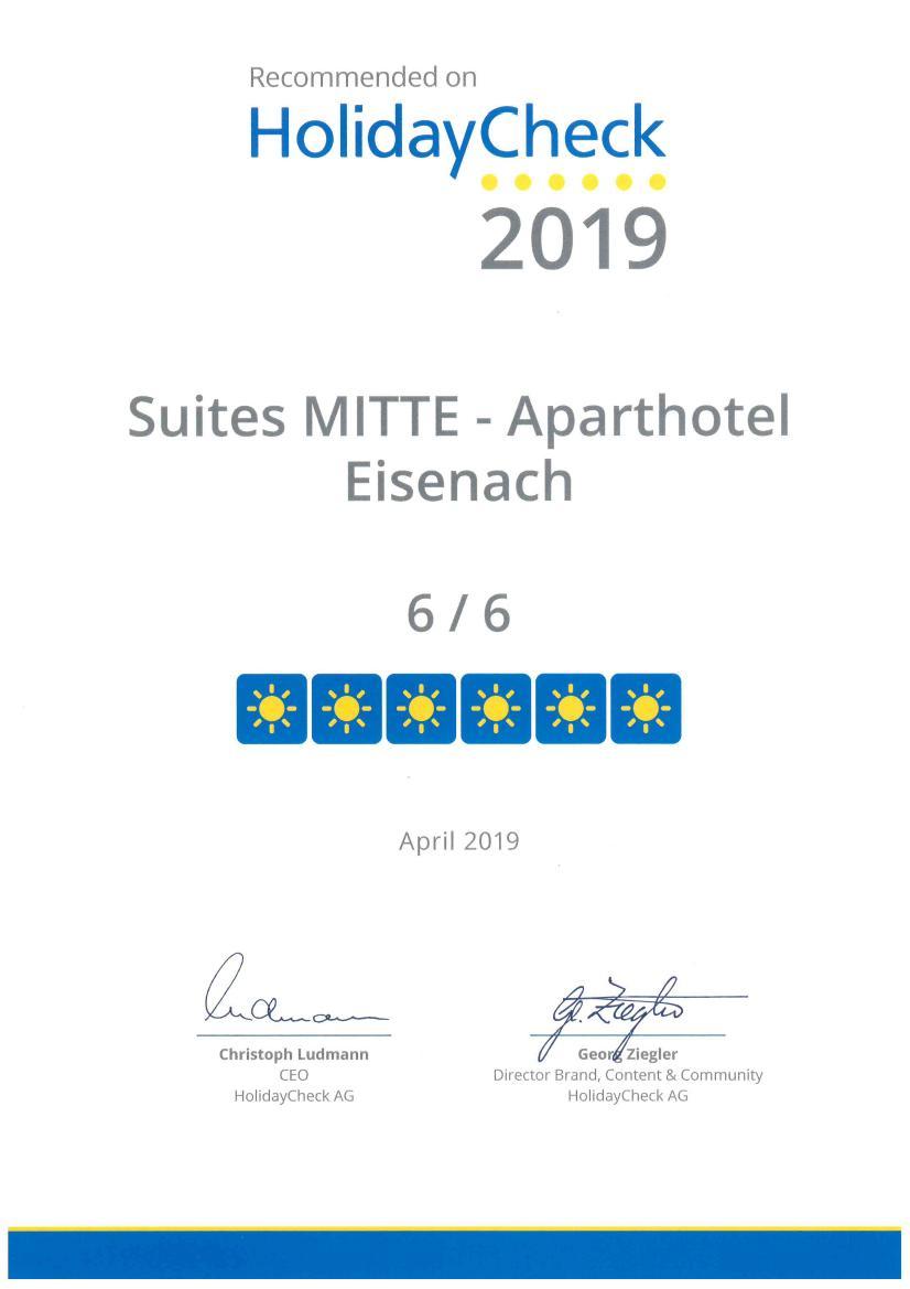 Suites MITTE Aparthotel Eisenach (Eisenach). Side  Ferienwohnung  Eisenach